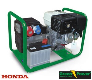 Genset  HONDA 3 phase, power from 4.4kW to 9.6kW